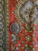 "Vintage Fabric, 36"" x 48"", ""Old Lyme"" Copper 100% Cotton, Waverly Fabrics"