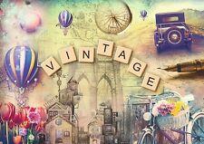 Puzzle Pappe Trefl 500 Teile Vintage Nostalgie - NEU 37240