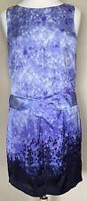 NWT Michael Kors Sleeveless Shift Dress Lined Back Zip Purple Ombre Eclipse Sz 8