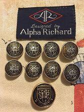 Alpha Richard Buttons Blazer Jacket Gold & Black Set of 9 Lot 1443