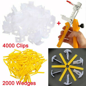 600/2000/6000 Tile Leveling System Clips +Wedges Floor Wall Plastic Spacers+Tool