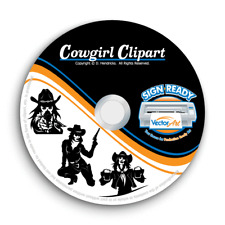Cowgirl Clipart Vector Clip Art Images Vinyl Cutter Plotter Cnc Dxf Graphics Cd