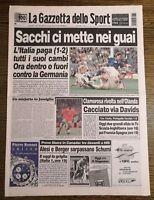 LA GAZZETTA DELLO SPORT N.141 DEL 15 GIUGNO 1996 - SACCHI CI METTE NEI.... (GS7)