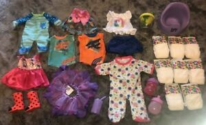 LOT Baby Alive Doll Accessories BOY Clothes FOOD MIXER Bottle DIAPERS Toy POTTY