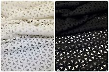 Floral Laser Cut Pattern on Stretch Textured Jacquard Polyester Spandex Fabric