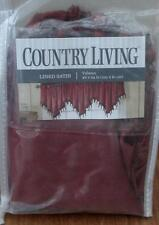 """Country Living Lined Satin Valance - 40"""" x 24"""" - Scarlet - Beaded - BRAND NEW"""