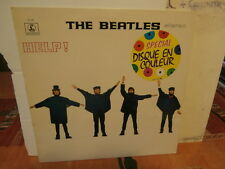 "les beatles""help""lp12""odeon:parlophone.france:se/dc25 de 1978..vinyl orange."