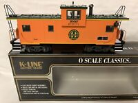 ✅K-LINE BY LIONEL BNSF EXTENDED VISION CABOOSE! FOR O SCALE DIESEL ENGINE SMOKE
