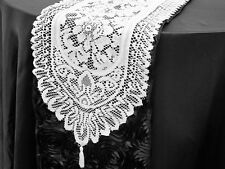 Lace Table Runner / White & Ivory / Wedding / Home decor