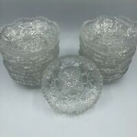 """(11) Vintage EAPG Footed Berry Bowls Cambridge Nearcut 2760 Daisy Line 4.75"""""""