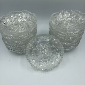 (11) Vintage EAPG Footed Berry Bowls Cambridge Nearcut 2760 Daisy Line 4.75""