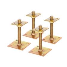 4x GAH Pfostenträger Aufschrauben 30-150mm höhenverstellbar verzinkt 70x70mm