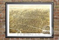 Vintage Utica, NY Map 1873 - Historic New York Art - Old Victorian Industrial