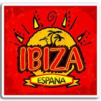 2 x 10cm Ibiza Spain Vinyl Stickers - Travel Sun Sticker Laptop Luggage #17030