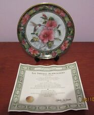 """'The Imperial Hummingbird' Collector's Plate with Coa, Approx. 8"""" Diameter."""