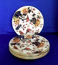 6 Vintage Coalport Hong Hong Pattern Bone China Dinner Plates, Apparently Unused