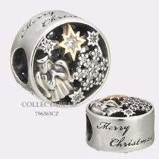 Authentic Pandora Silver & 14K Celestial Wonder CZ Bead 796363CZ *WINTER 2017