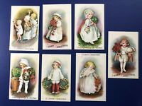 Christmas 7 E. Clapsaddle Antique Postcards. Wolf Series 25. Collector Items