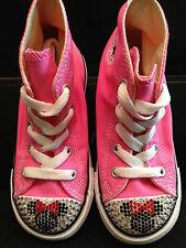 CONVERSE All-Star TODDLER Pink Hi-Top SWAROVSKI Minnie Custom