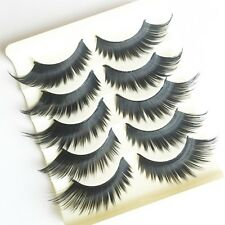 5 Pairs Makeup Transparent Crossover Thick Long Extension False Eyelashes