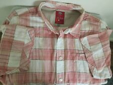 Mens Fat Face Size Large Check Short Sleeved Shirt