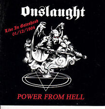 ONSLAUGHT-CD-Live gateshead 1984 Venom Sabbat Kreator Bathory Gorgasm