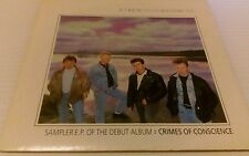 """CRY BEFORE DAWN Crimes Of Conscience 7"""" VINYL UK Epic 1987 3 Track ep"""