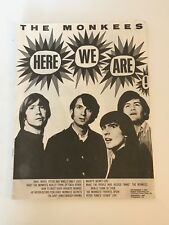 "The Monkees / Here We Are! / 32 Page 8""x11"" Fan Magazine / Great condition!"