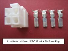 Original Icom Kenwood Yaesu 4 PIN DC Power Plug IC7000 TS-480 FT-9000 FT-450