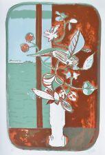 Alfredo Fabbri (1926-2010) Vaso da fiori Hand Signed Lithograph Italian Artist