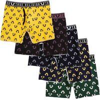 True Religion Men's U Logo Mid-Length Boxer Brief Underwear