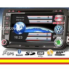 RADIO CD 7 PULG VOLKSWAGEN SEAT SKODA GPS BLUETOOTH USB SOPORTA CAMARA TRASERA