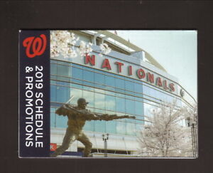 Washington Nationals--2019 Pocket Schedule--Geico