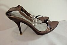 """Shes Collection Ankle Strap Sandal HEELS ~ Size 7 ~ """"Stella"""" Jeweled"""