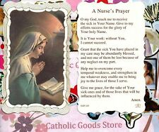 Virgen Mary with A Nurse's Prayer - Scalloped trim - Paperstock Holy Card