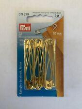Épingles à nourrice X 12 métal doré 57 mm prym 071279