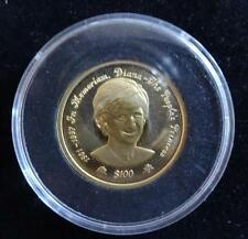 1998  24ct GOLD PROOF 1/5 OZ NIUE ISLAND $100 COIN  BOX + COA PRINCESS DIANA