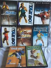 8 Tae Bo Billy Blanks workout exercise fitness DVD get celebrity fit cardio set