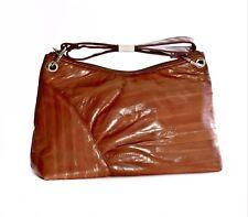 Lee Sands Cognac Eelskin Medium Handbag