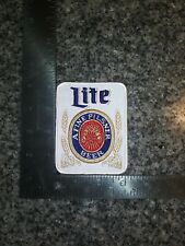 Large Miller Lite Iron On Patch Vintage Style