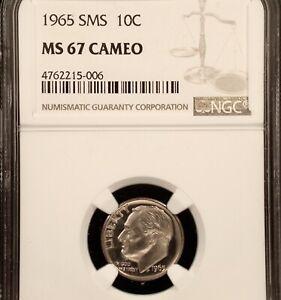 1965 SMS 10c NGC MS67 CAMEO !!!!! VERY RARE & GORGEOUS !!!!!