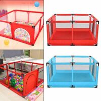 Baby Playpen with Round Zipper Door Play Pen for Toddlers Safe Indoor UK