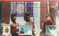 Folder ufficiale buste primo giorno (FDC) Viaggi del Papa TANZANIA RUANDA AFRICA