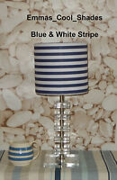 Navy Blue and White Stripe Lampshade Handmade Nautical Sea Side Striped 20 30 40