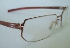 ic! Berlin RENE Featherweight Brown Eyeglasses Frame 55-18 GERMANY Medium
