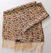 Vintage Sammy Paisley Bufanda anudada flecos inglés tradicional Para Hombre Casual Wear