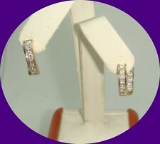 Charming 14k Yellow Gold Diamond Earrings