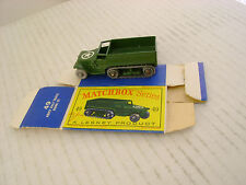MATCHBOX MOKO LESNEY #49A ARMY M3 PERSONNEL CARRIER GPW M/ROLLERS W/ORIGINAL BOX