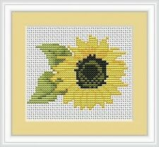 Sunflower Cross Stitch Kit - Luca S - Beginner 9cm x 7cm