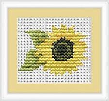 Sunflower Cross Stitch Kit - Luca S - Beginner 9cm x 7cm